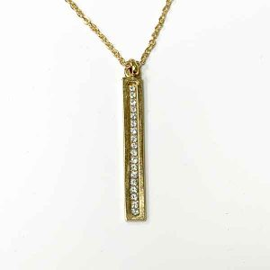 colgante Basia chapado en oro con cristales de swarovski