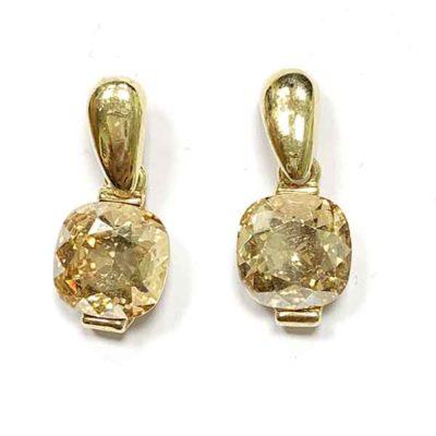 Pendientes Alya dorado chapados en oro