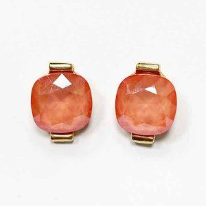 pendientes Fendy chapados en oro con cristal de swarovski